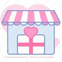 gift, heart, shop, shopping, store, valentin, yumminky icon