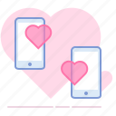 heart, love, lovers, messages, phones, romance, valentin icon