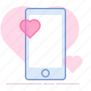 heart, love, lovers, phone, romance, valentin, yumminky icon