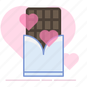 chocolate, gift, heart, love, romance, sweet, valentin icon