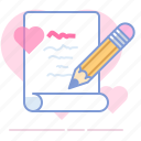 heart, letter, love, lovers, message, romance, valentin icon