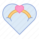 engagement, gift, heart, love, ring, romance, valentin icon