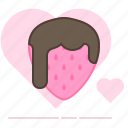 aphrodisiac, chocolate, heart, love, strawberry, sweet, valentin icon