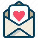 heart, love, mail, message, romance, valentine