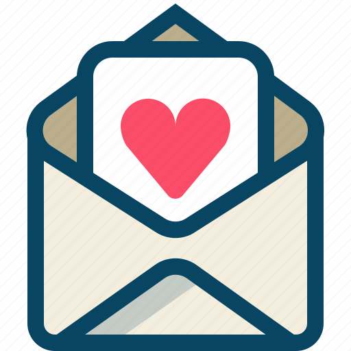 heart, love, mail, message, romance, valentine, yumminky icon
