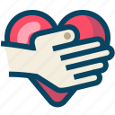 hand, heart, love, romance, thank you, valentin, yumminky icon