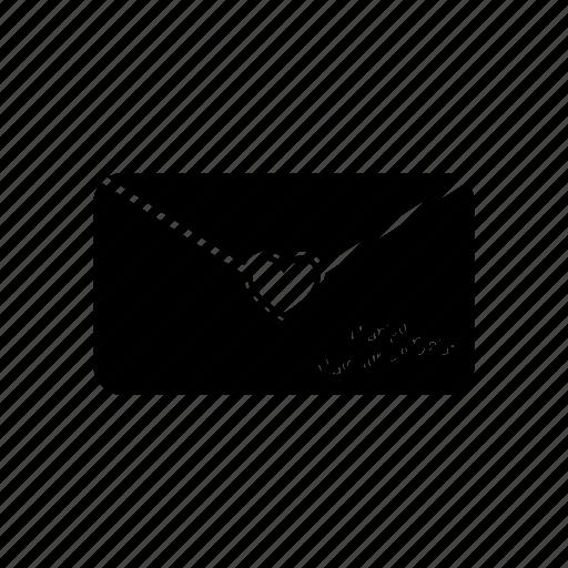 envelope, heart, letter, love, mail, message, postcard icon