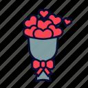 heart, hearts, love, present, romance, valentine, valentines day icon