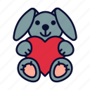 birthday, bunny, love, present, valentine, valentines day icon
