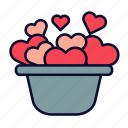 birthday, love, present, romance, valentine, valentines day icon