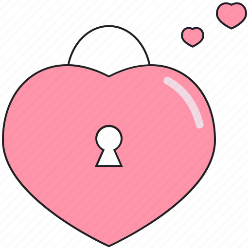heart, lock, love, saint valentine, valentine's day icon