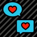 talk, valentine, chat, love, heart