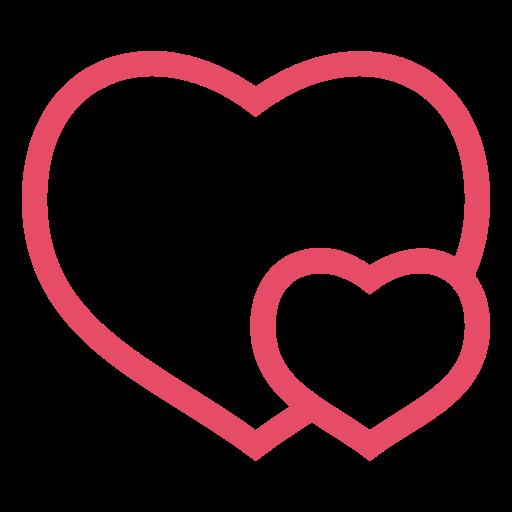 Heart Hearts Love Pink Valentine Valentine S Day Icon