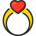 day, heart, love, ring, valentines icon