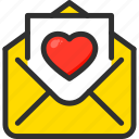 day, heart, love, mail, valentines icon