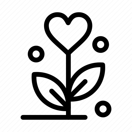 day, flower, heart, love, valentine, valentines, wedding icon