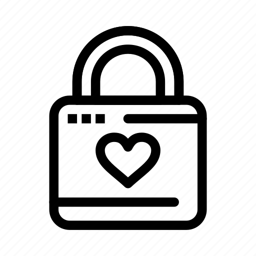 day, hacker, heart, lock, locker, love, valentine, valentines icon