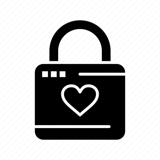 hacker, heart, lock, locker icon