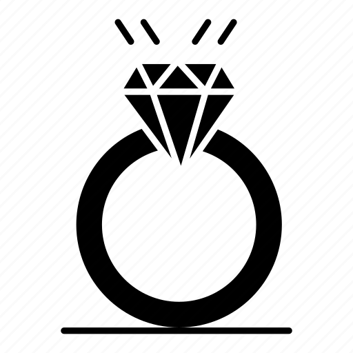 diamound, love, marriage, proposal, ring icon
