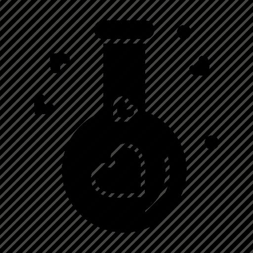 flask, heart, love, wedding icon