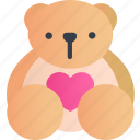 animal, bear, cute, emoticon, smile, teddy, toy icon