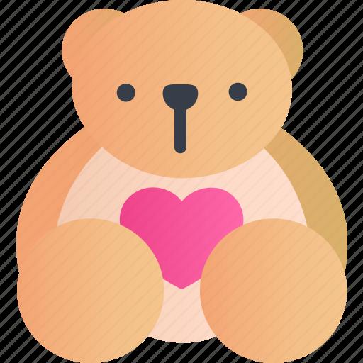 Bear, teddy, animal, cute, emoticon, smile, toy icon - Download on Iconfinder