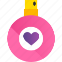 day, gift, heart, love, perfume, romance, valentine icon