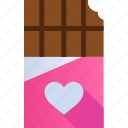 chocolate, gift, heart, like, love, romance, valentine icon