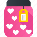 gift, heart, jams, jar, love, romance, valentine icon