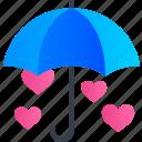 heart, love, protection, romance, umbrella, valentine, wedding icon