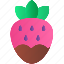 chocolate, fruit, heart, love, romance, strawberry, valentine icon