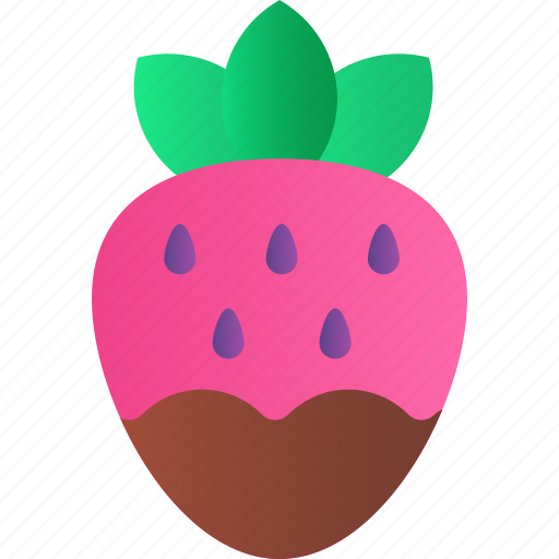 chocolate, fruit, heart, love, romance, strawberry, valentine icon