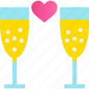 alcohol, beverage, champaigne, cocktail, drink, glass, party icon