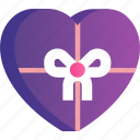 box, chocolate, heart, love, romance, valentine icon