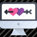 cupid, heart, love, romance, valentine, computer, online