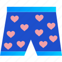 boxers, clothes, heart, love, romance, underwear, valentine icon