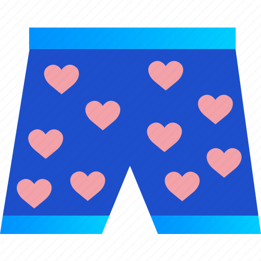boxers, clothes, heart, love, romance, underwear, valentine icon