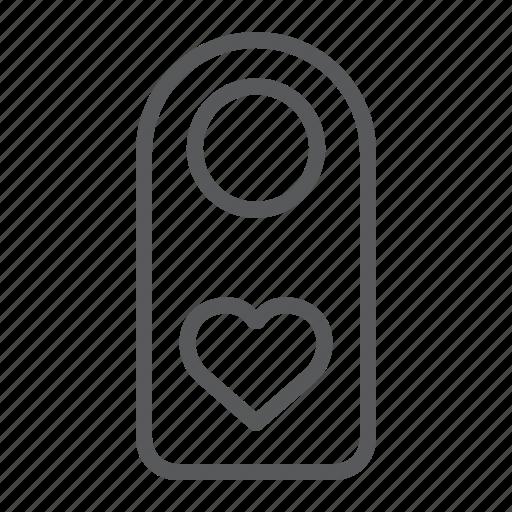 disturb, do, door, hanger, heart, hotel, not icon