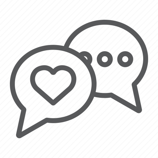bubble, chat, love, message, speech, valentine icon