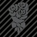 bouquet, bunch, floral, flower, flowers, gift, valentine icon