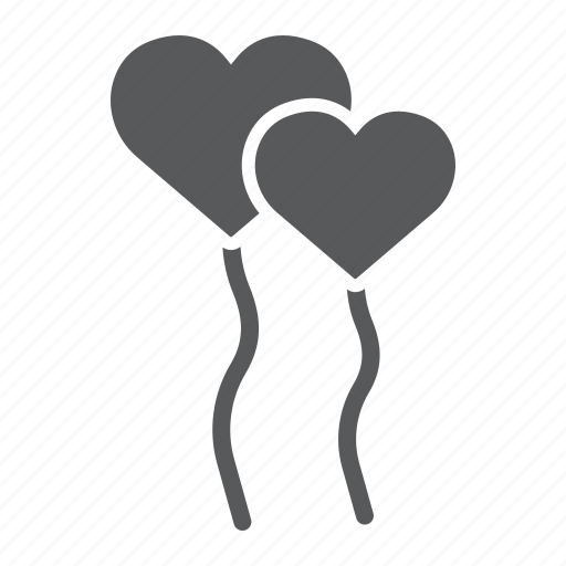 air, balloon, balloons, gift, heart, holiday, party icon