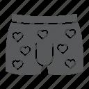 briefs, heart, man, men, panties, underwear icon