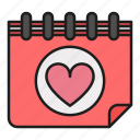 calendar, date, day, heart, love, valentines