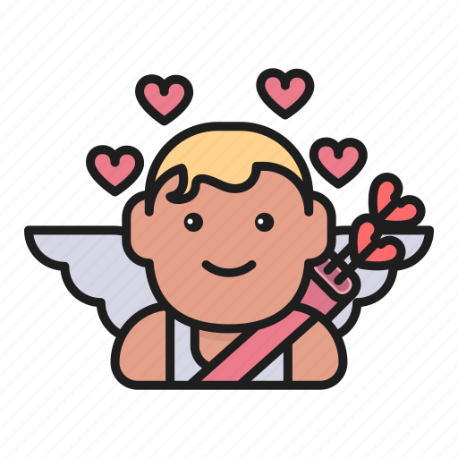 arrows, cupid, day, heart, love, valentines icon