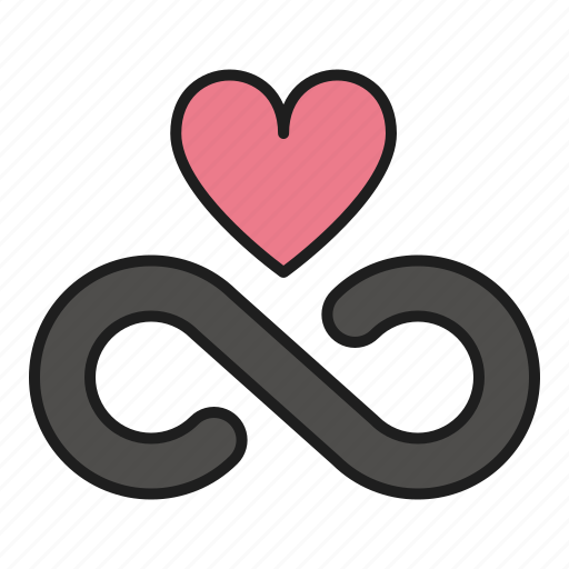 day, forever, heart, infinite, love, valentines icon