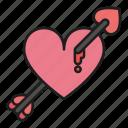 arrow, bleeding, day, heart, inlove, love, valentines