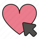 arrow, click, day, heart, love, pointer, valentines