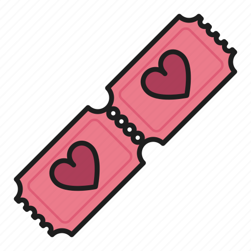acces, day, heart, love, tickets, valentines icon