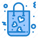 bag, gift, love, shopping icon