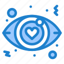dating, eye, love, sign icon